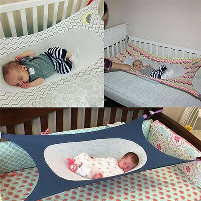 Baby Folding Oxford Cloth Cot Bed Travel Playpen Hammock Holder Crib KP