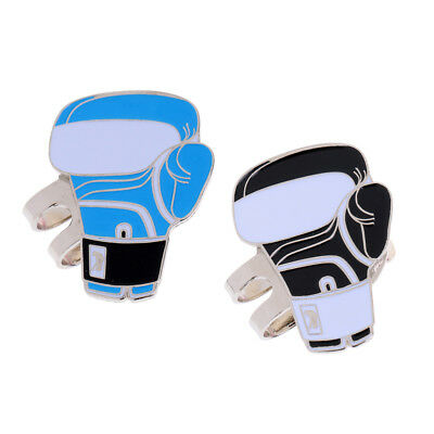 Sturdy Boxing Glove Magnetic Hat Clip Golf Ball Marker Clip On Cap Visor