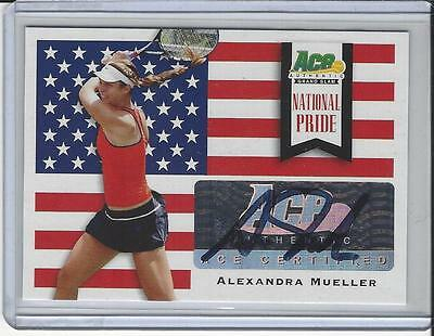 2013 Ace Authentic Grand Slam Tennis National Pride Auto Alexandra Mueller