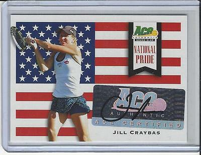 2013 Ace Authentic Grand Slam Tennis National Pride Auto Autogramm Jill Craybas