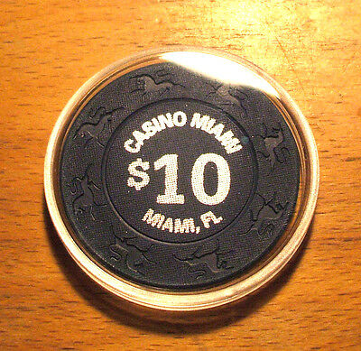 $10. CASINO MIAMI CHIP - Miami, Florida - 1997 - Unicorn Mold