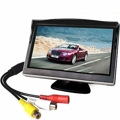 480 * 272 Standard Definition Car Sunshade 5-inch Car LCD Monitor Reversing