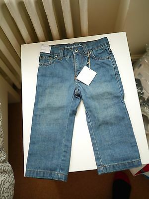 baby boy trousers jeans denim by bout' chou size 18 month new with tag