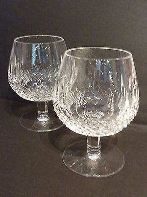 Waterford COLLEEN Cut Crystal - large Pair of Brandy Glasses / Balloons Snifters
