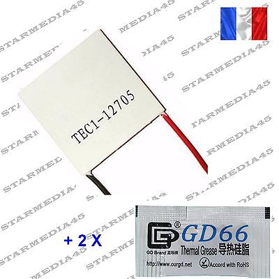12705 MODULE PELTIER TEC1-12705  THERMOELECTRIQUE Machine à biere + PATE T (154