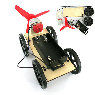Mini Wind Powered Toy DIY Car Kit Children Educational Gadget Hobby Funny Gift