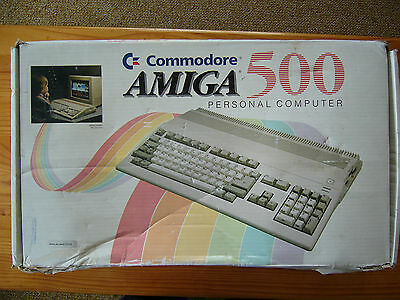Amiga 500 boxed with games.
