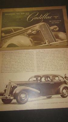 Original 1936 Cadillac Series 60 Fold Out - Excellent Condition