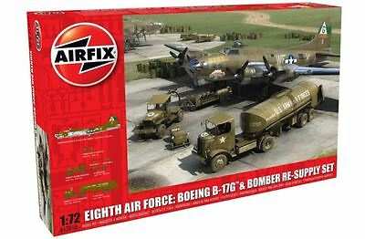 New Airfix 1:72 Eighth Air Force Resupply Model Kit Defense Armour War Military