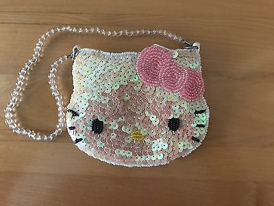 Sanrio Hello Kitty Vintage beaded and sequined small purse with jeweled handle.