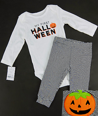 Carters My First Halloween 2 Piece Outfit Bodysuit Leggings Set Girl Boy 9 Month
