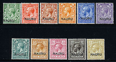NAURU King George V 1916 to 1923 The Full Definitive Set SG 1 to SG 12 MINT