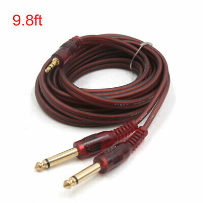 9.8ft Long 1/8 Inch Male to Dual 1/4 Inch Male TRS Car Stereo Audio Y Cable Cord