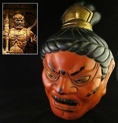 Japanese mask Nio Buddhist Warrior Guardian Protector of Buddha Traditional