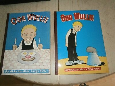 Oor Wullie  Annuals 1960 And 1970 Very Good Condition