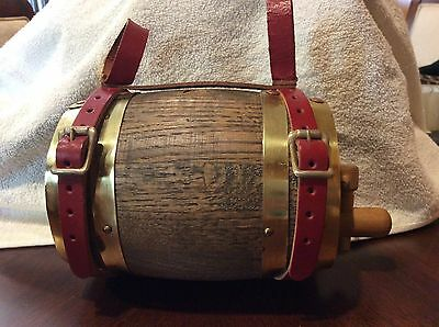 St Bernard Antique Wooden Brandy Barrel Collar With Leather straps