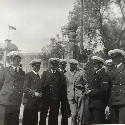 Larger Original Pre-WWII Polish Navy photograph / Officers / Poland