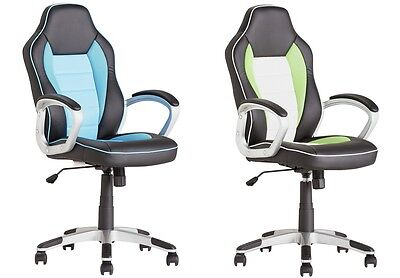 Office Chair Home Computer Desk Chair Swivel PU Leather Curved Back POSTURE New