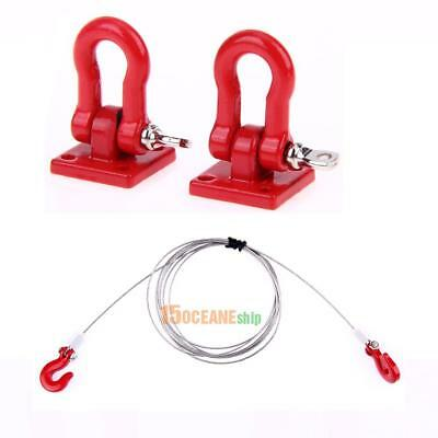 Tow Hook & Steel Tow Rope for 1/10 RC Crawler Rc4wd Tamiya Axial scx10 D90 Car