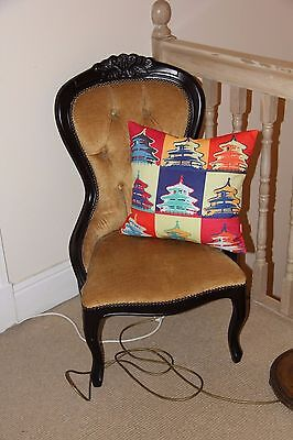 Fireside Nursing Victorian style antique chair Louis X111 13th style £200