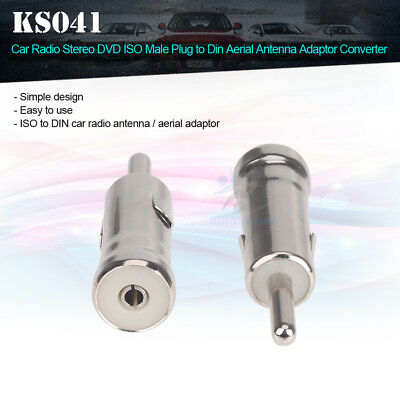Brand New Car Radio Antenna ISO to DIN Aerial Stereo Extension Adaptor Converter