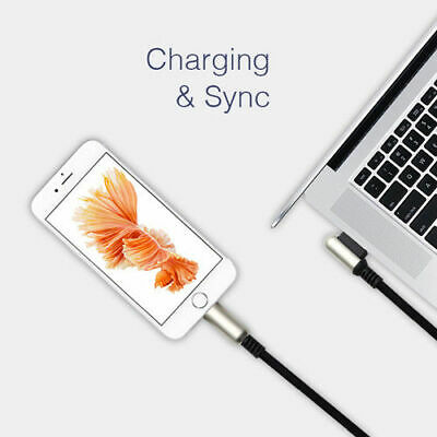 Genuine lanzero Metal Woven USB Data Charger Lightning Cable For iPhone 6 7 8 X