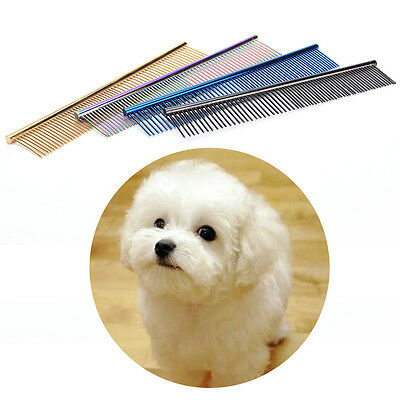 Pet Comb Professional Stainless Steel Dog Cat Grooming Cleaning Brush JX
