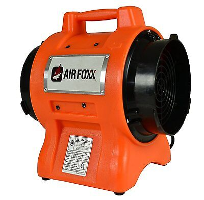 AirFoxx UT1100a High Velocity 1/3 HP 1100CFP 8 Inch Utility Dryer and Air Circla