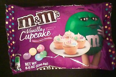 M&M's Bags Vanilla Cupcake 8 oz LIMITED EDITION