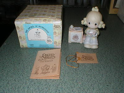 Precious Moments 1983 Join In on the Blessings Figurine E-0404 Girl Piggy Bank