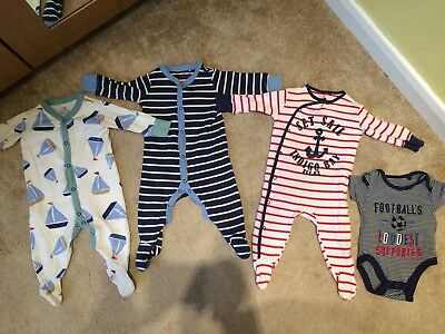 Bundle Of Boy Babygrows Sleepsuits 3-6 Months
