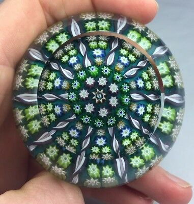 Superb Scottish Crieff Perthshire Paperweight Faceted Millefiori Central P Cane