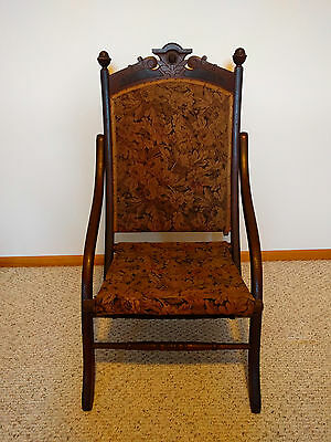Antique Victorian Eastlake Style Folding Chair Circa 1900