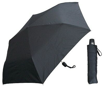 "42"" Black Mini Auto-Auto Rain Umbrella - RainStoppers Rain/Sun UV"