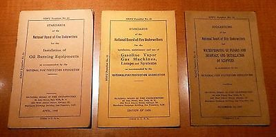 (3) Old National Board of Fire Underwriters booklets 1939, 1941, and 1943