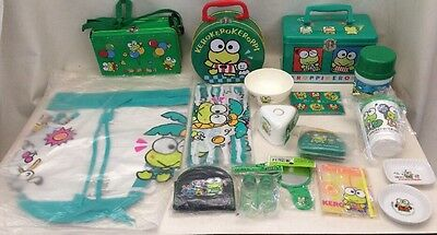 vintage kero keroppi Sanrio Lot Boxes Cups Bags Wallets Mostly New Sealed 1990s