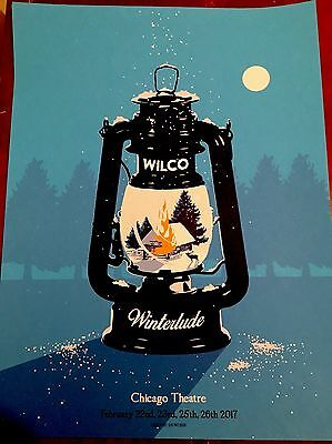 Wilco run poster Winterlude Chicago Theater  Beautiful print
