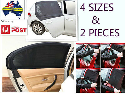 *4 SIZE* Car Side Window Socks Sun Shade Mesh SUV UV Protection Large pair sox