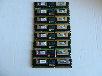 Kingston 64GB Memory Kit 8 x 8GB 2Rx4 PC2-5300F KTH-XW667/64G FOR DL360 G5