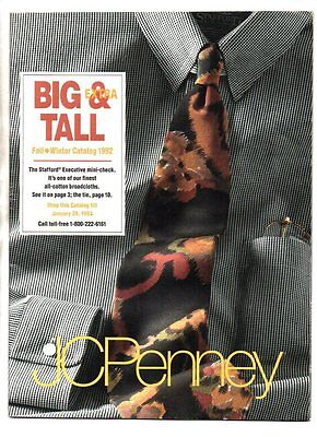 JCPenney big & extra tall fall/winter mens catalog 1992