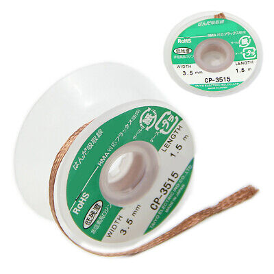 3.5mm Desoldering Braid Solder Remover Copper Wick Spool Wire Cable 1.5m Length