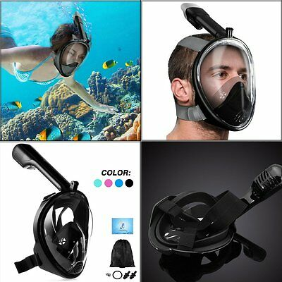 Breath Full Face Snorkeling Mask Surface Diving Snorkel Scuba Swimming for GoPro