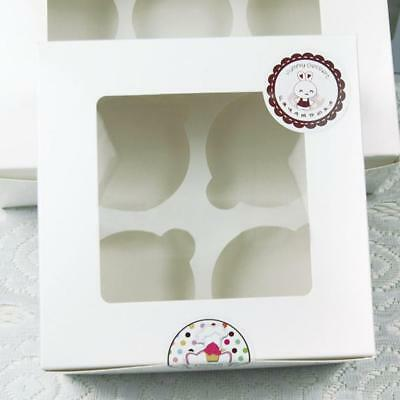 10pcs Cupcake Muffin Box 4er Storage Box Gift Cardboard Packaging Holder Box