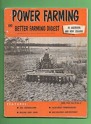 Vintage POWER FARMING June 1963 in Australia and New Zealand Agriculture Mag