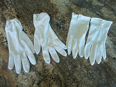 LOT of 2 PAIRS of VINTAGE WOMEN'S DRESS GLOVES - White