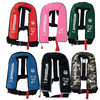 Watersnake Inflatable PFD Life Jacket Series All Colours