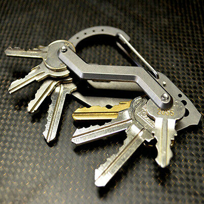 Multifunction Premium Stainless Extended Compact Key Holder Organizer Tools HOT