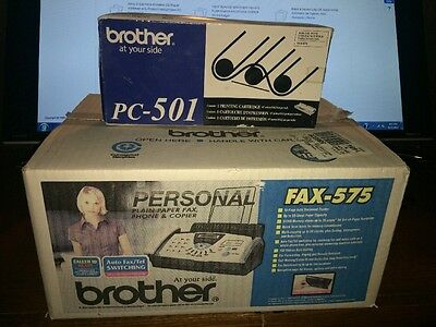 *NEW SEALED* BROTHER FAX-575 PLAIN PAPER FAX PHONE COPIER W/ Cartridge!