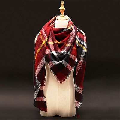 New Scarf Blanket Oversized Wrap Shawl Women Plaid Tartan Pashmina Cozy