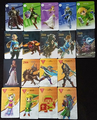 18 Full Set NFC PVC Tag Card ZELDA BREATH OF THE WILD WOLF LINK